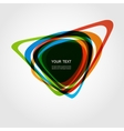 Abstract form color line design eps10 vector