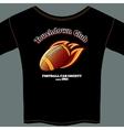American football t-shirt template vector