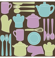Kitchen utensils - seamless pattern vector