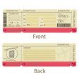 Boarding pass design template vector