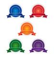 Blank badges vector