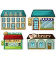 Cartoon shops set vector