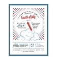 Vintage 4th of july independence day invitation vector