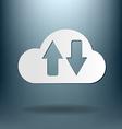 Cloud download icon download files vector
