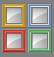 Colored frames vector