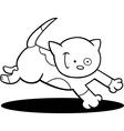 Running kitten for coloring vector