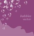 Bubbles background vector