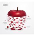 Modern design apple dot minimal style infographic vector