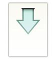 Paper with arrow vector