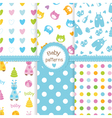 Set of baby seamless patterns vector