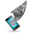 Qr code smartphone vector
