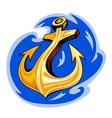 Anchor in ocean water vector