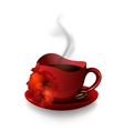 Red cup of coffee vector