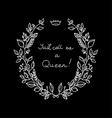 White wreath on black background vector