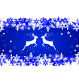 Reindeer with stars snowflakes and glitter vector
