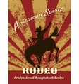 Retro rodeo poster vector