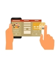 Mobile app for ordering sushi vector