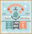 Nautical wedding invitation 2 xs vector