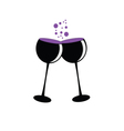 Toasting with two glasses of wine vector