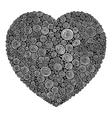 Abstract swirl heart vector