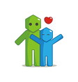 Hexagon man - affection vector