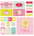 Baby shower nautical theme vector