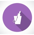 Bottle in a bucket icon vector