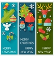 Merry christmas and happy new year vertical vector