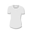 White women t-shirt vector