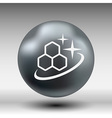 Molecule icon isolated glossy shiny atom vector