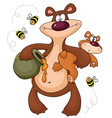 Bear with the kid vector