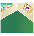 South korean room background vector