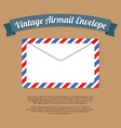 Vintage mail envelope vector