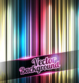 Colorful and shiny stripes background with place vector