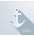 Paper anchor icon vector