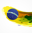 Brazil flag abstract background vector