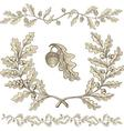 Oak wreath vector
