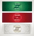 Three belarus traditional banners with ribbons vector