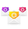 Opened envelope with colorful paper sheet vector