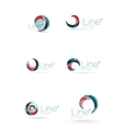 Swirl company logo design vector