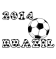 Soccer or football emblem vector