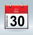 Memorial day calendar vector