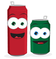 Funny beer or soda cans vector
