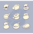 Cookware set vector