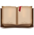 Old open book for halloween vector
