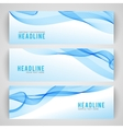 Abstract blue wave isolated on white background vector