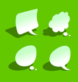 Bended paper style speech bubbles vector