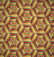 Hexagon seamless pattern colorful background vector