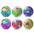 Earth in different colours vector
