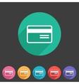 Bank credit card flat icon vector